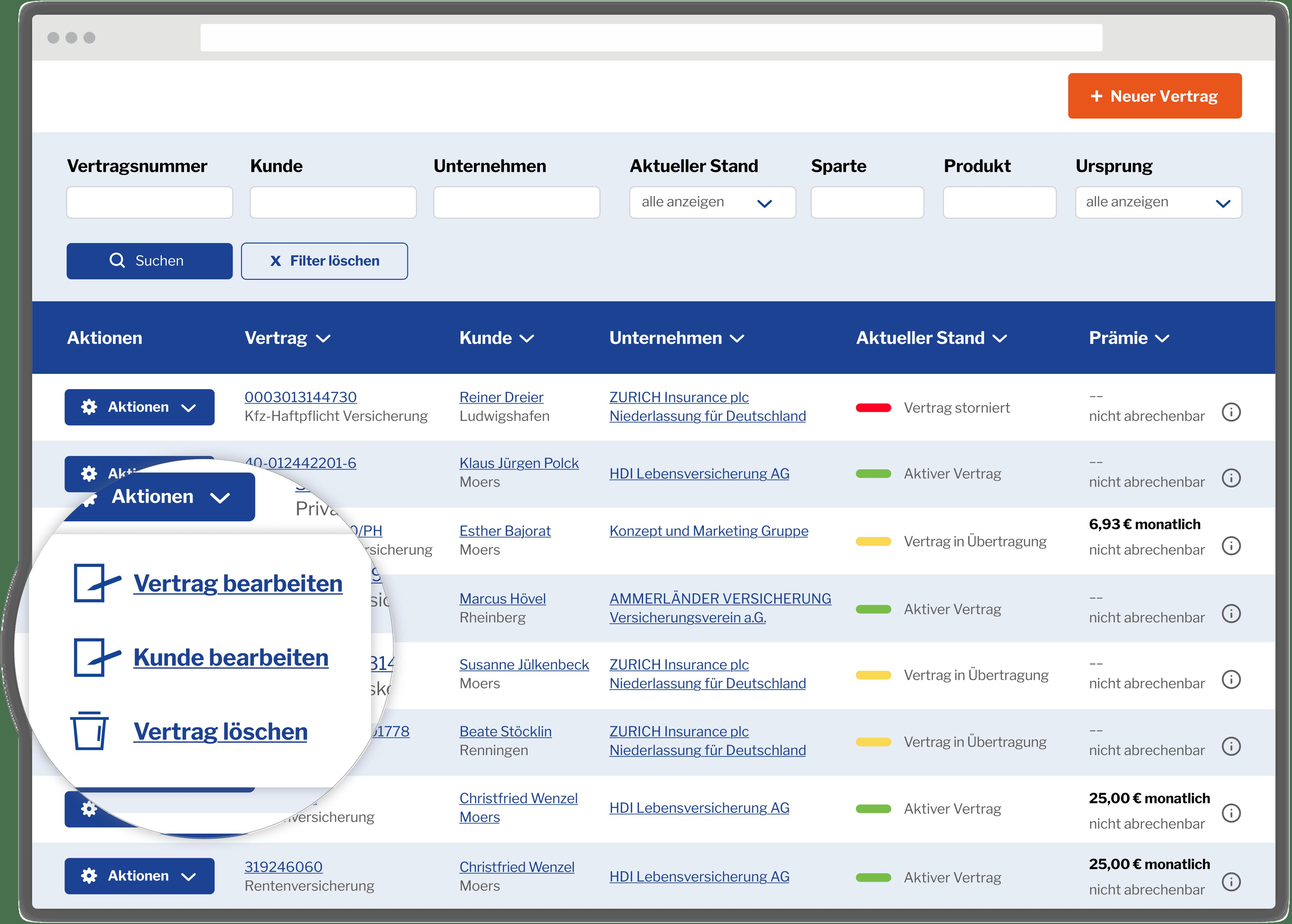 Kundencenter Makler-Portal
