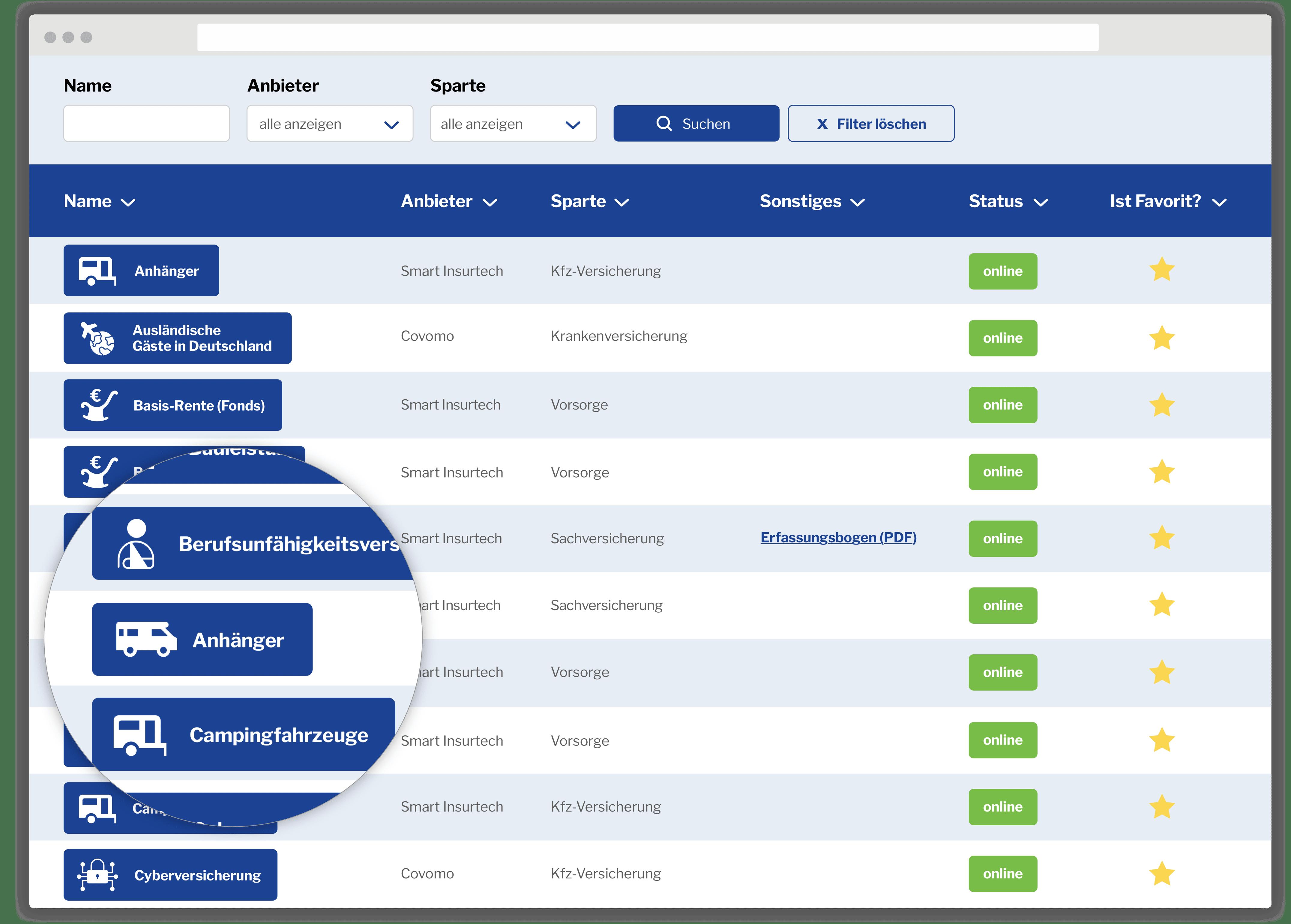 Vergleichsrechner Makler-Portal